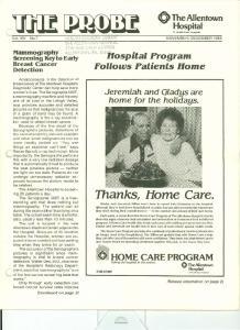 o HOME CARE PROGRAM ~cu:e:~~lo~~~tow[~' Thanks, Home Care. 181Jtospital Program Hospital A HealthEast Hospital