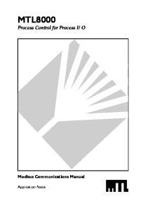 O Modbus Communications Manual