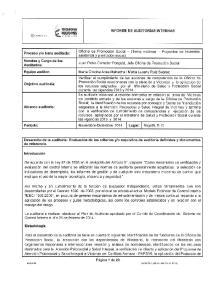 o requisitos de auditoria definidos y documentos de referencia