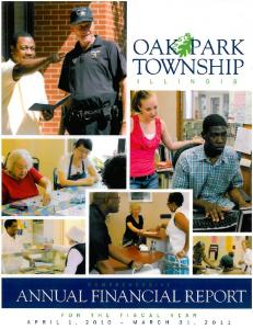 OAK PARK TOWNSHIP, ILLINOIS COMPREHENSIVE ANNUAL FINANCIAL REPORT. For the Year Ended March 31, 2011