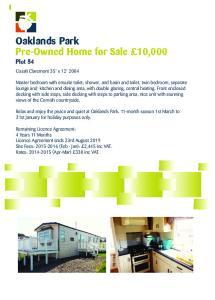 Oaklands Park Pre-Owned Home for Sale 10,000 Plot 54