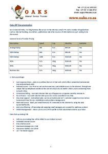 Oaks ISP Documentation