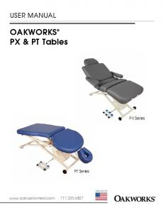 OAKWORKS PX & PT Tables