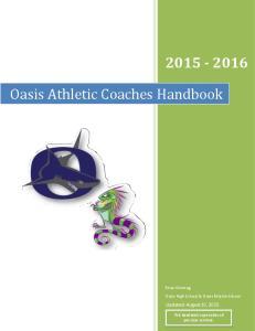 Oasis Athletic Coaches Handbook