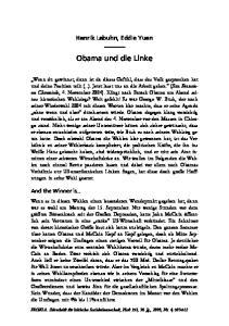 Obama und die Linke. Henrik Lebuhn, Eddie Yuen