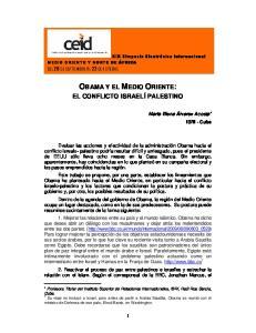 OBAMA Y EL MEDIO ORIENTE: