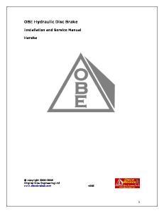 OBE Hydraulic Disc Brake