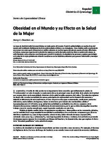 Obesidad en el Mundo y su Efecto en la Salud de la Mujer
