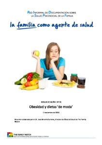 Obesidad y dietas de moda