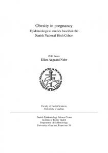 Obesity in pregnancy