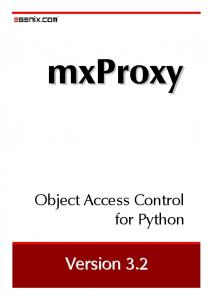 Object Access Control for Python. Version 3.2