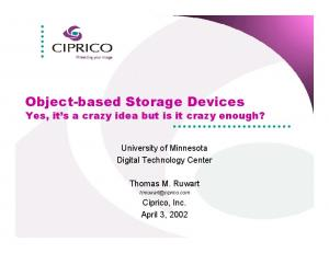 Object-based Storage Devices
