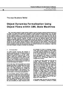 Object Dynamics Formalization Using Object Flows within UML State Machines