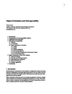 Object Orientation and Interoperability