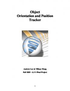 Object Orientation and Position Tracker
