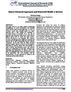 Object-Oriented Approach and Waterfall Model: A Review