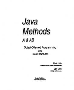 Object-Oriented Programming and Data Structures