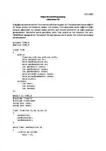 Object-Oriented Programming Laboratuvar 10