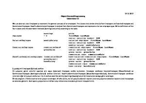 Object-Oriented Programming Laboratuvar 11