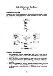 Object-Relational Databases Exercices