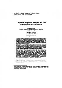 Objective Bayesian Analysis for the Multivariate Normal Model