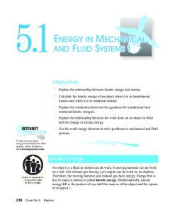 Objectives. Kinetic Energy 230 CHAPTER 5 ENERGY