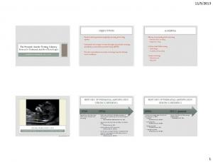 OBJECTIVES. Review current prenatal aneuploidy screening and testing options