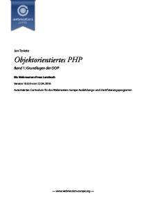 Objektorientiertes PHP
