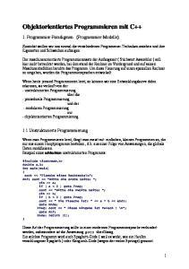 Objektorientiertes Programmieren mit C++