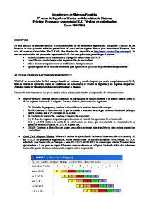 OBJETIVOS ALGUNAS CONSIDERACIONES SOBRE WINDLX