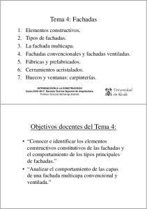 Objetivos docentes del Tema 4:
