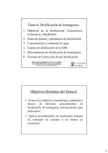 Objetivos Docentes del Tema 6: