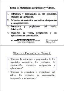 Objetivos Docentes del Tema 7: