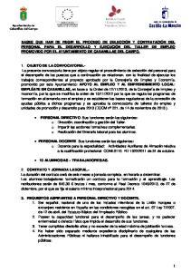 OBJETO DE LA CONVOCATORIA.-