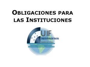 OBLIGACIONES PARA LAS INSTITUCIONES