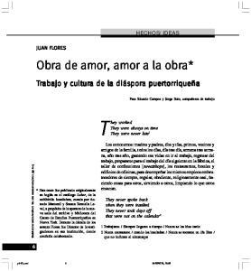 Obra de amor, amor a la obra*