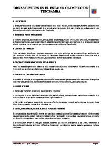 OBRAS CIVILES EN EL ESTADIO OLIMPICO DE TUNIBAMBA