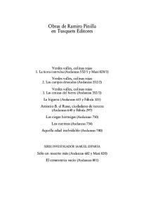 Obras de Ramiro Pinilla en Tusquets Editores