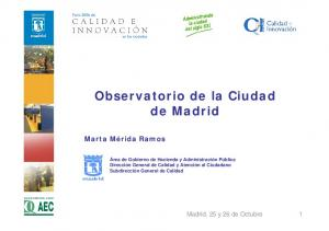 Observatorio de la Ciudad de Madrid