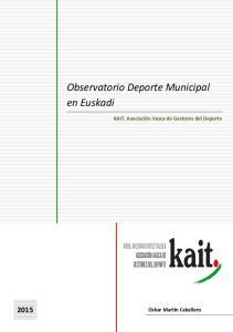 Observatorio Deporte Municipal en Euskadi