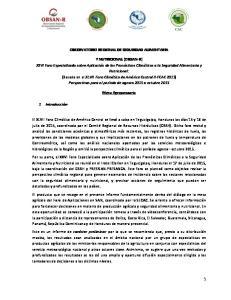 OBSERVATORIO REGIONAL DE SEGURIDAD ALIMENTARIA. Mesa Agropecuaria