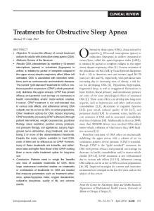 Obstructive sleep apnea (OSA), characterized by