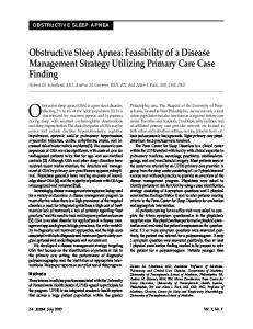 Obstructive sleep apnea (OSA) is a prevalent disorder,