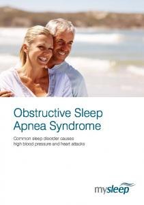 Obstructive Sleep Apnea Syndrome. Common sleep disorder causes high blood pressure and heart attacks