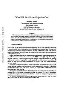 OCamlJIT Faster Objective Caml