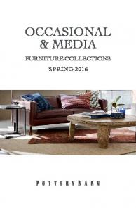 OCCASIONAL & MEDIA FURNITURE COLLECTIONS SPRING 2016