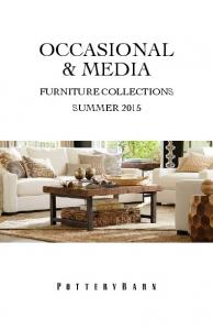 OCCASIONAL & MEDIA FURNITURE COLLECTIONS SUMMER 2015