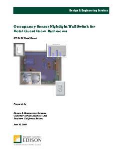 Occupancy Sensor Nightlight Wall Switch for Hotel Guest Room Bathrooms