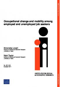 Occupational change and mobility among employed and unemployed job seekers