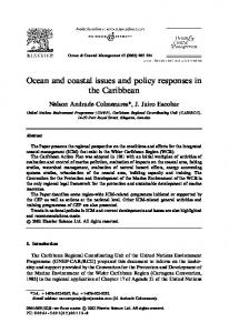 Ocean and coastal issues and policy responses in the Caribbean